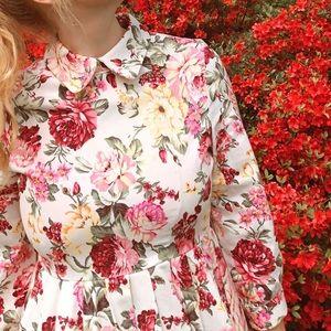 Pink Floral Sister Jane Collared Dress